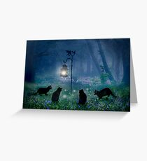 The Witches Cats Greeting Card