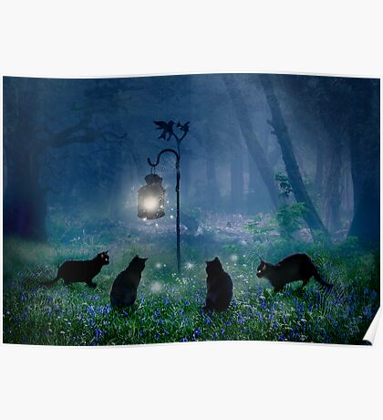 The Witches Cats Poster
