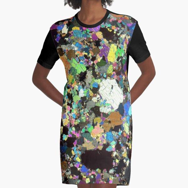 Peridotite Thin Section Graphic T-Shirt Dress