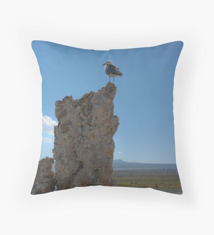 Mono Gull Throw Pillow