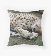 Cheetah Maasai Mara Kenya Throw Pillow