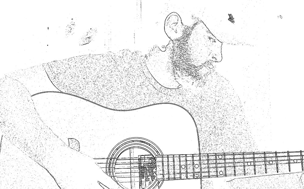 Man and Guitar by johnjones28