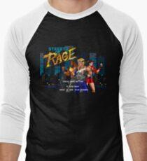 Streets of Rage (Genesis) Title Screen Men's Baseball ¾ T-Shirt
