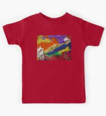 Alberta Canada abstract collage Kids Tee
