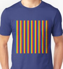 Mini Verticle Gay Pride Rainbow Beach Stripes Unisex T-Shirt