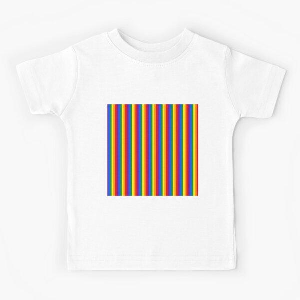 Mini Vertical Gay Pride Rainbow Beach Stripes Kids T-Shirt