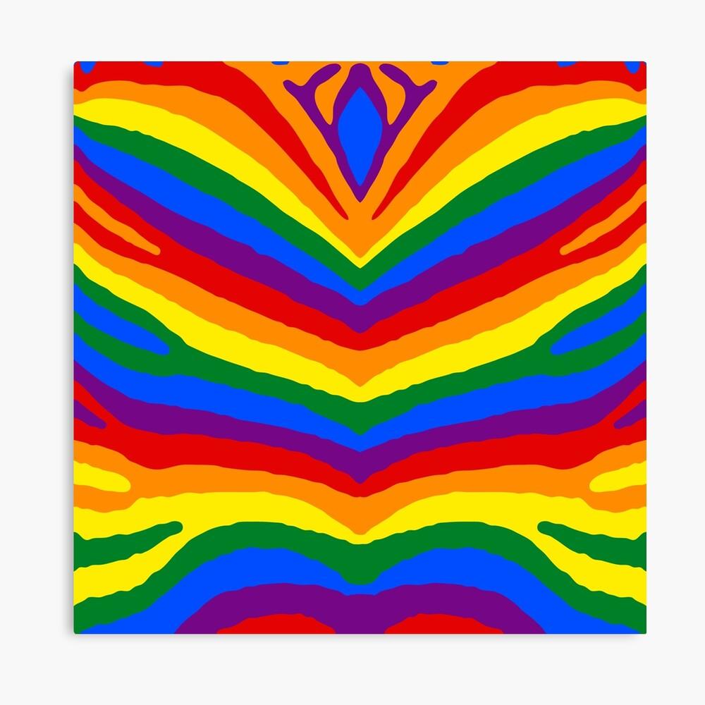 GAY PRIDE SCARF RAINBOW PRINT SATIN STRIPE DESIGN