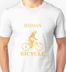 Bicycle A Woman With A Bicycle Awesome Unisex T-Shirt