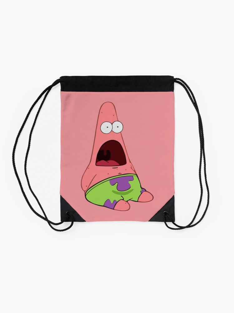 Alternate view of Surprised Patrick Drawstring Bag