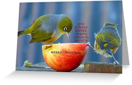 It is always better to give than to receive! - Christmas card - NZ  by AndreaEL