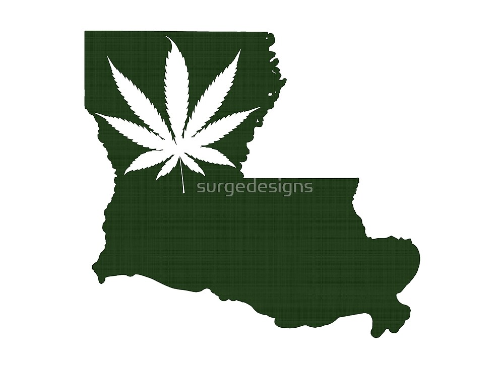 Marijuana Leaf Louisiana by surgedesigns