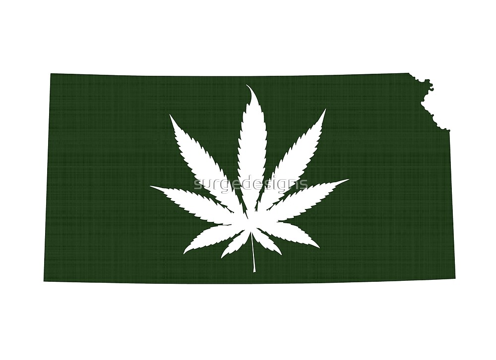 Marijuana Leaf Kansas by surgedesigns