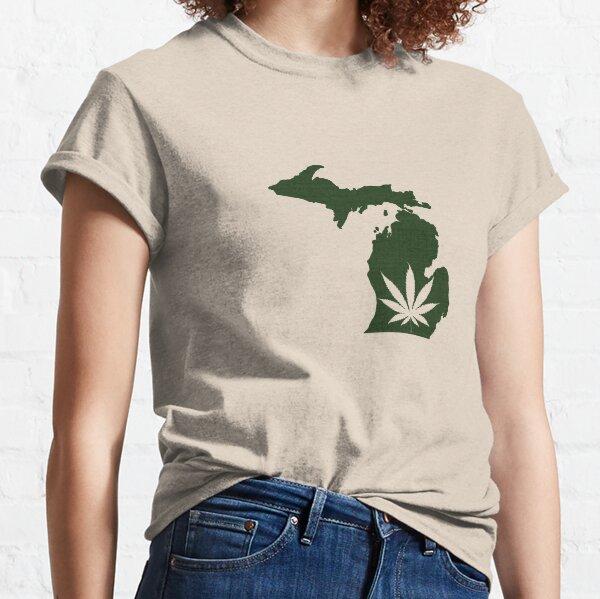 Marijuana Leaf Michigan Classic T-Shirt