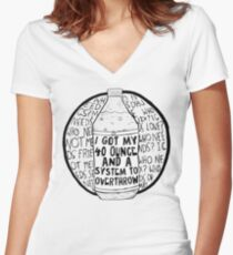 40 Ounce Women's Fitted V-Neck T-Shirt