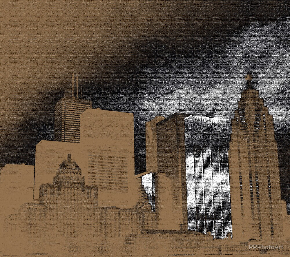 downtown with pencil by PPPhotoArt