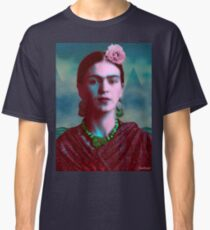 Frida Kahlo with Mountains - Color (Ver 8.5) Classic T-Shirt