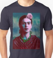 Frida Kahlo with Mountains - Color (Ver 8.5) T-Shirt