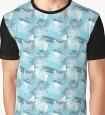 Abstract teal brush strokes pattern. Graphic T-Shirt