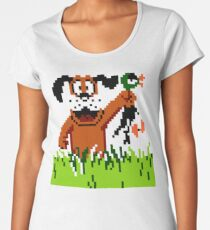 """Retro Retriever"" Duck Hunt Women's Premium T-Shirt"