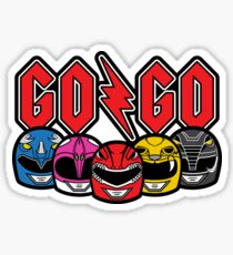 Go Go Rock and Rollin' Mighty Morphin' Sticker