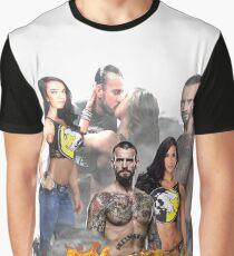 Cm Punk Aj Lee Graphic T-Shirt