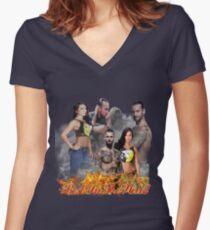 Cm Punk Aj Lee Women's Fitted V-Neck T-Shirt