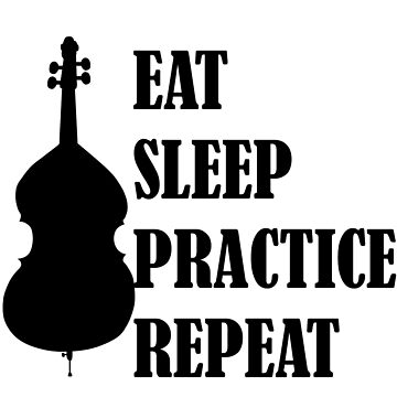 Eat Sleep Practice Repeat- Double Bass by dweebcocreation
