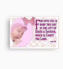 A Baby ( 15369 Views) Canvas Print