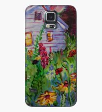 Garden House and Mountains, Acrylic Painting, Dreamy Northwestern landscape Case/Skin for Samsung Galaxy