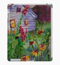 Garden House and Mountains, Acrylic Painting, Dreamy Northwestern landscape iPad Case/Skin