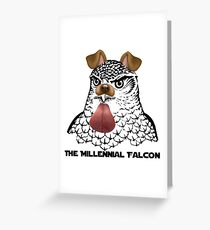 The Millenial Falcon Greeting Card