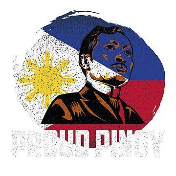 Proud Pinoy TShirt Jose Rizal for Filipino by xpammer
