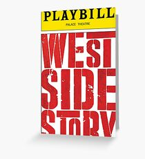 West Side Story Playbill Greeting Card