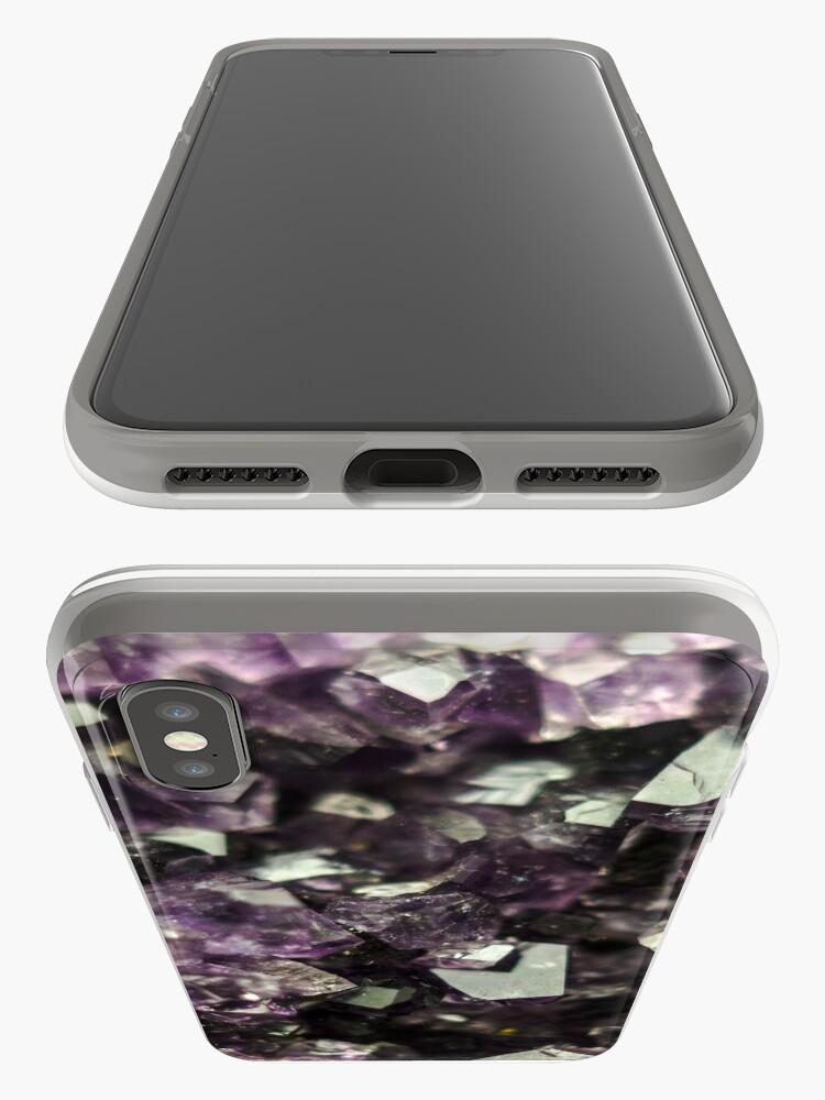 Alternative Ansicht von Amethyst Kristalle iPhone-Hülle & Cover