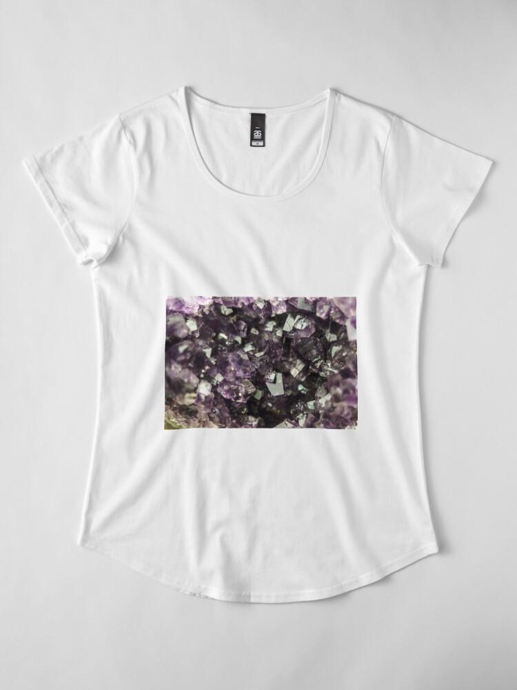 Alternative Ansicht von Amethyst Kristalle Premium Rundhals-Shirt