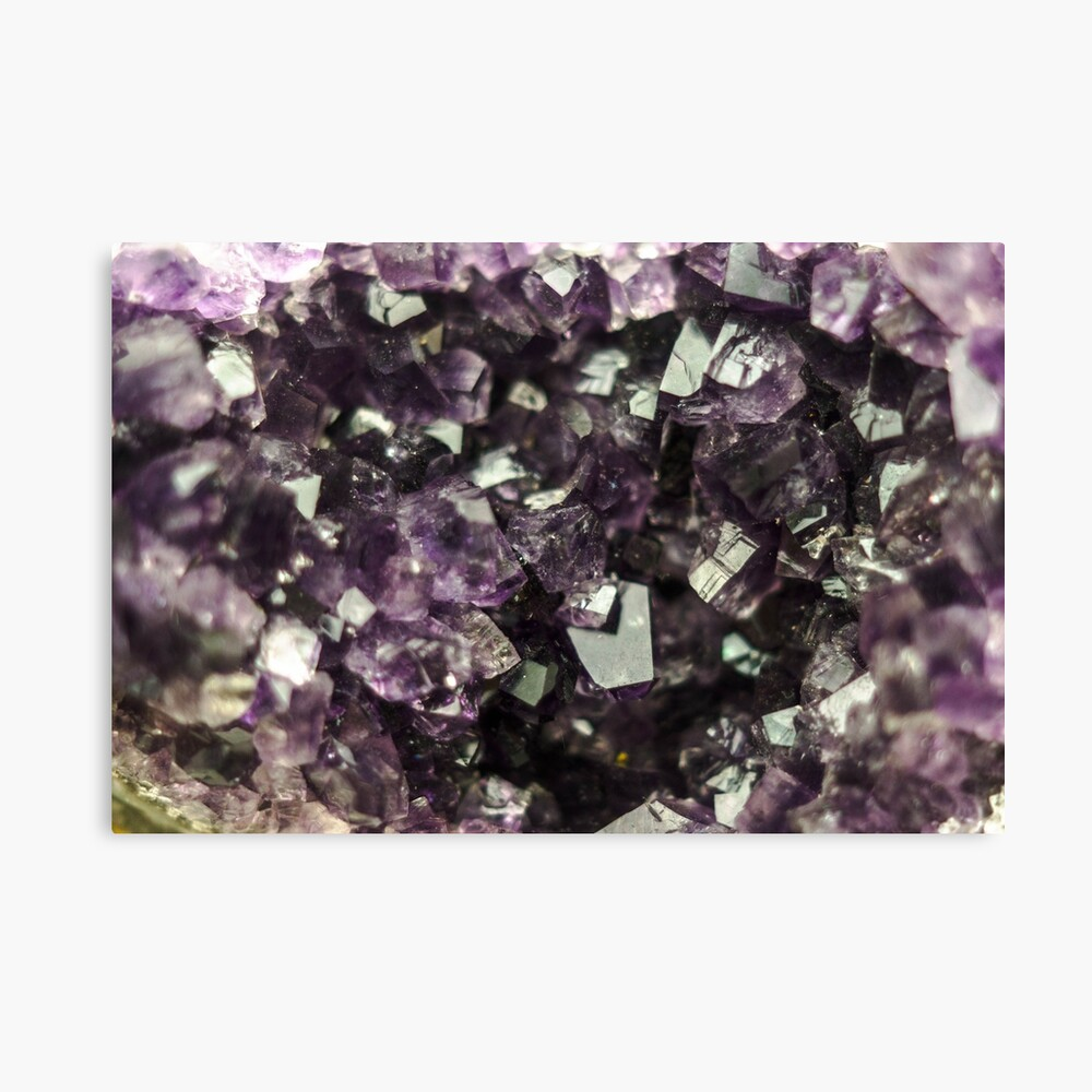 Amethyst Kristalle Leinwanddruck