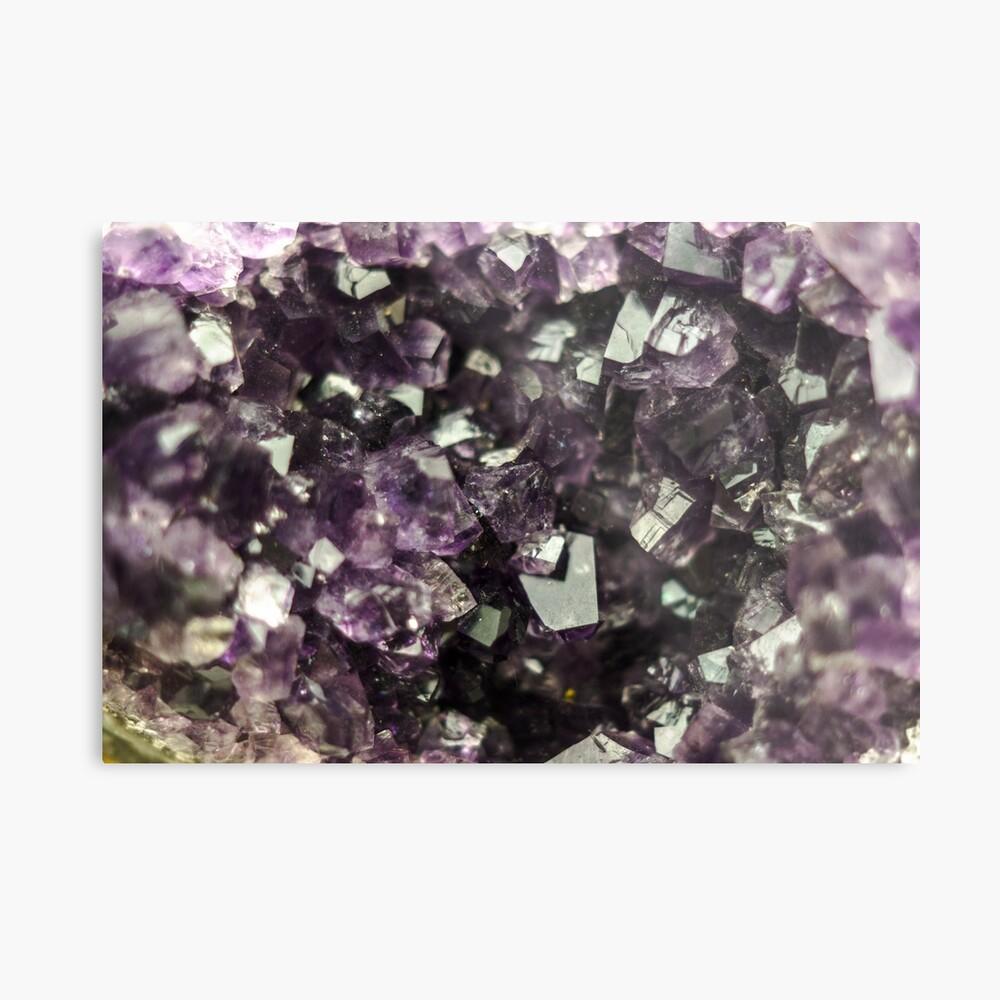 Amethyst Kristalle Metallbild