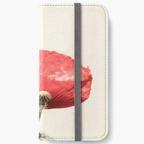 Still Life Poppies In Vase  iPhone Wallet