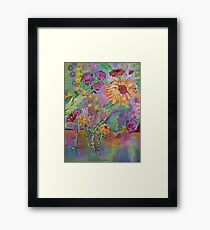 Floral Dream, Acrylic Painting  Framed Print