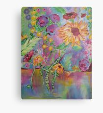 Floral Dream, Acrylic Painting  Metal Print