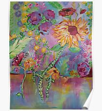 Floral Dream, Acrylic Painting  Poster