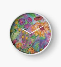 Floral Dream, Acrylic Painting  Clock
