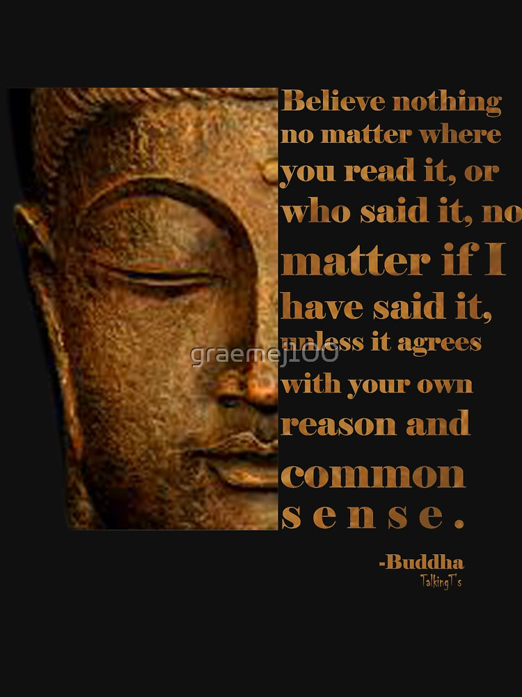 Buddhist T Shirt Inspirational Quote Yoga Zen Believe Nothing