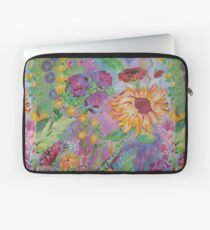 Floral Dream, Acrylic Painting  Laptop Sleeve