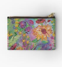 Floral Dream, Acrylic Painting  Studio Pouch