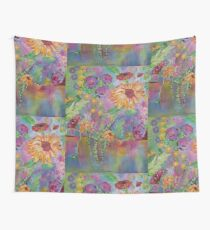 Floral Dream, Acrylic Painting  Wall Tapestry