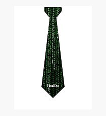 Matrix Tie Photographic Print