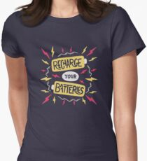 Recharge your batteries Women's Fitted T-Shirt
