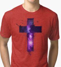 Galaxy Cross Tri-blend T-Shirt