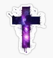 Galaxy Cross Sticker